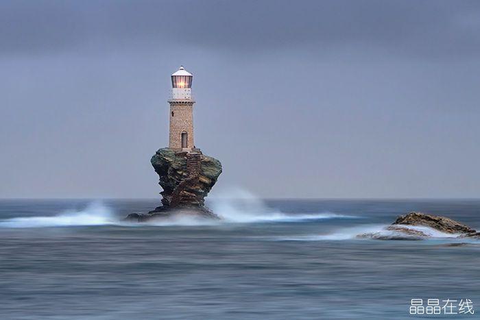 希腊安德罗斯岛灯塔