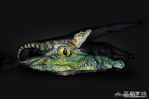 各种动物的人体彩绘