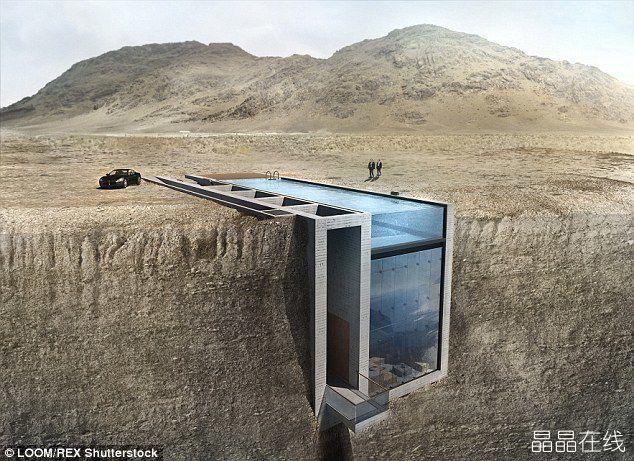 创意悬崖别墅 屋顶兼做泳池眺望大海